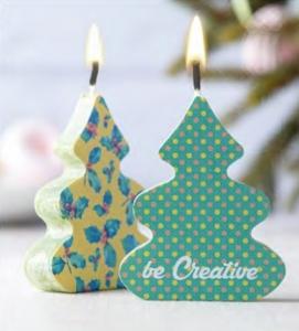 Коледни рекламни свещи